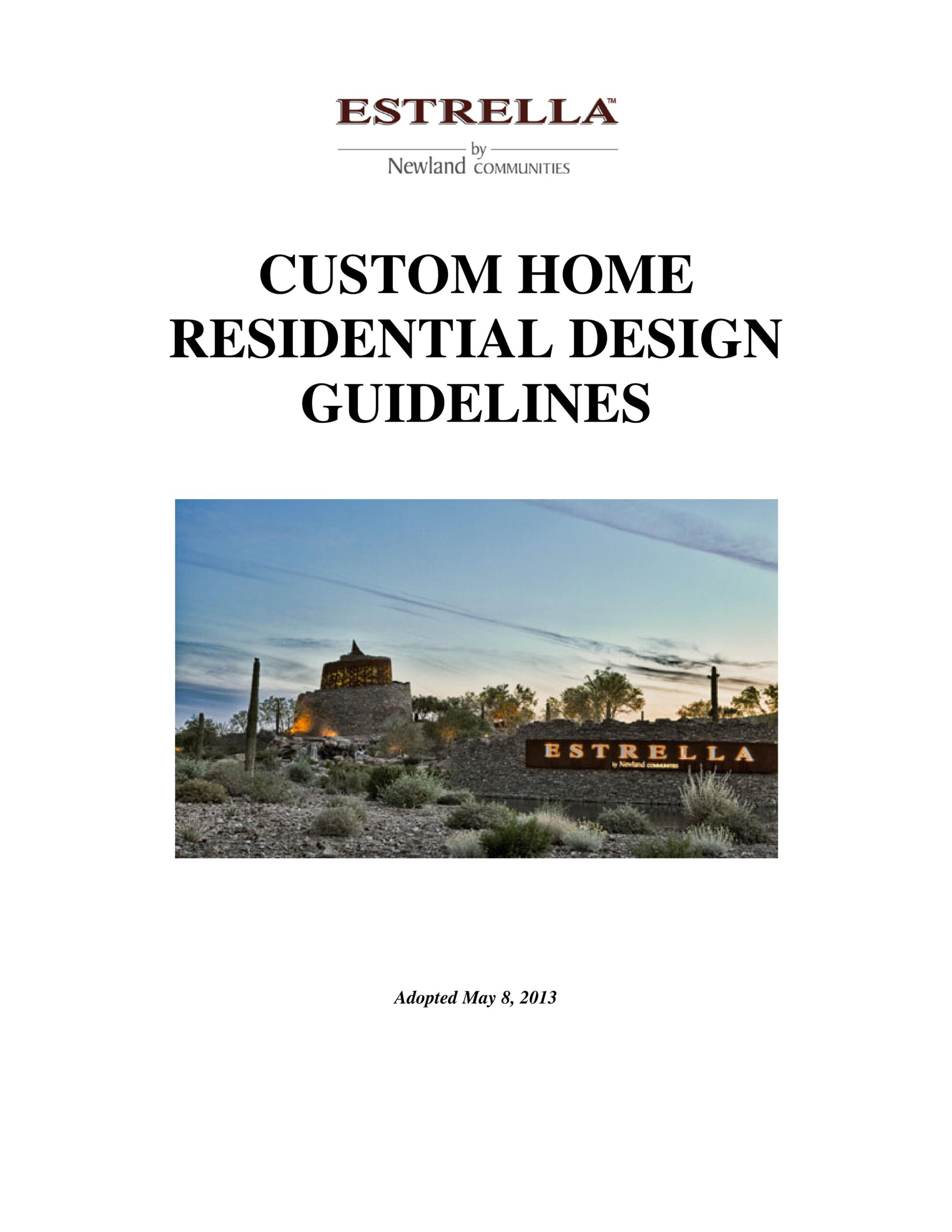 ESTRELLA MOUNTAIN CUSTOM HOME GUIDELINES-page-001