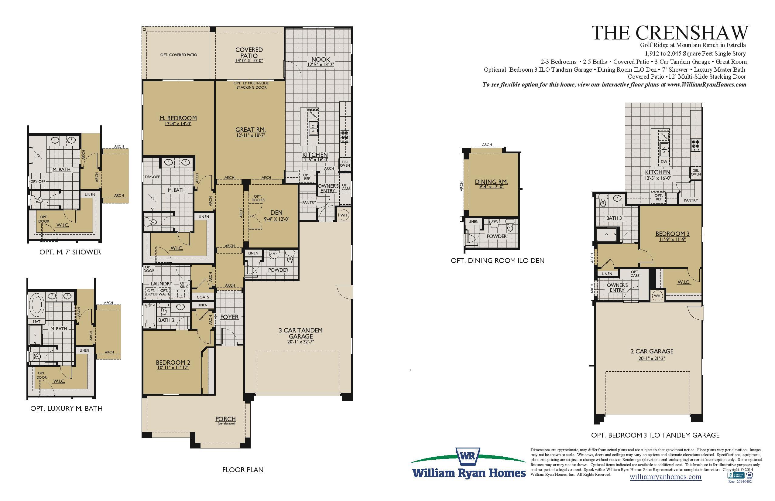 Tw lewis floor plans crenshaw plan william ryan homes in for Blandford homes floor plans