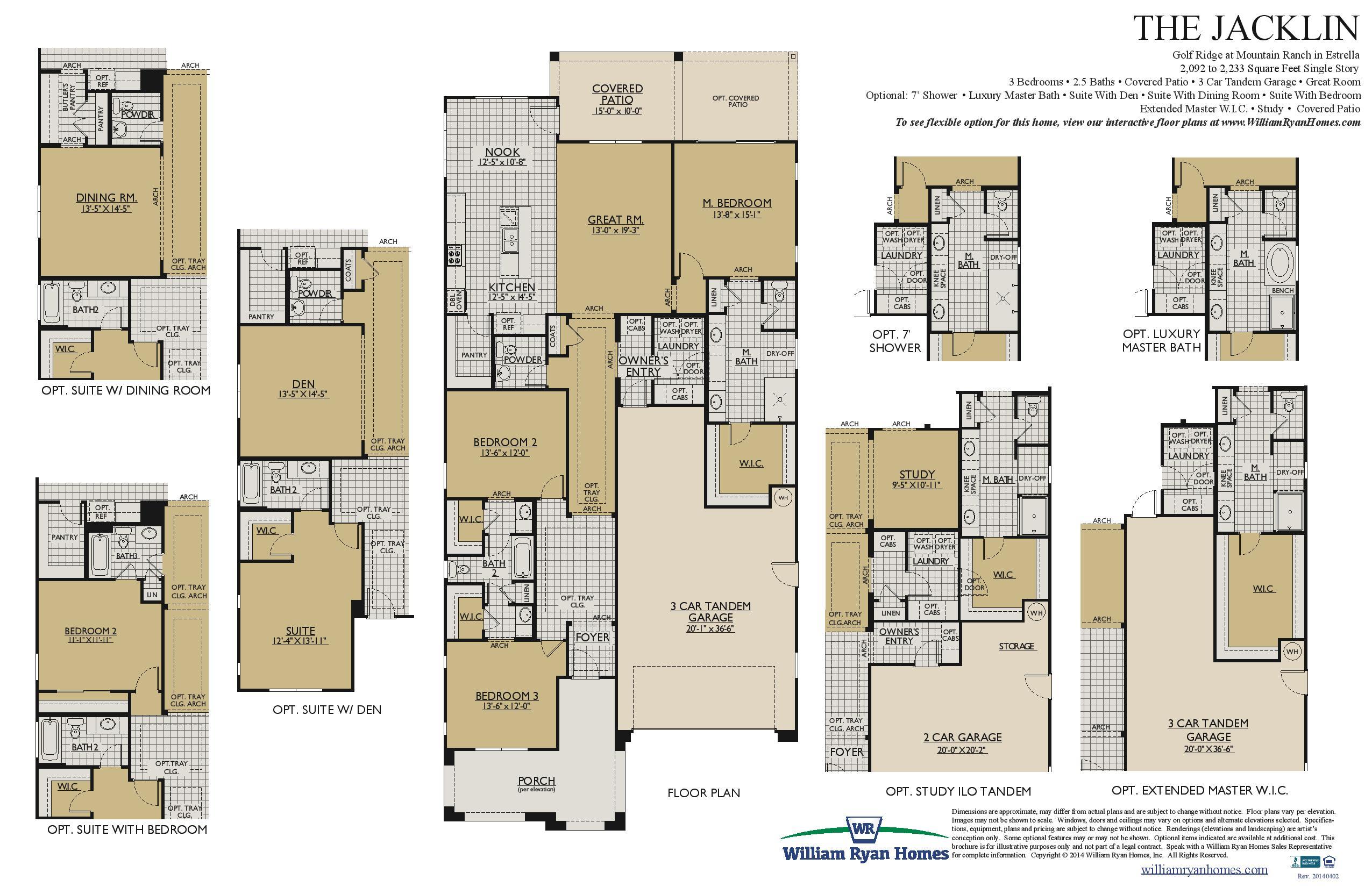 Jacklin Plan William Ryan Homes In Estrella Mountain For Sale – William Ryan Homes Floor Plans