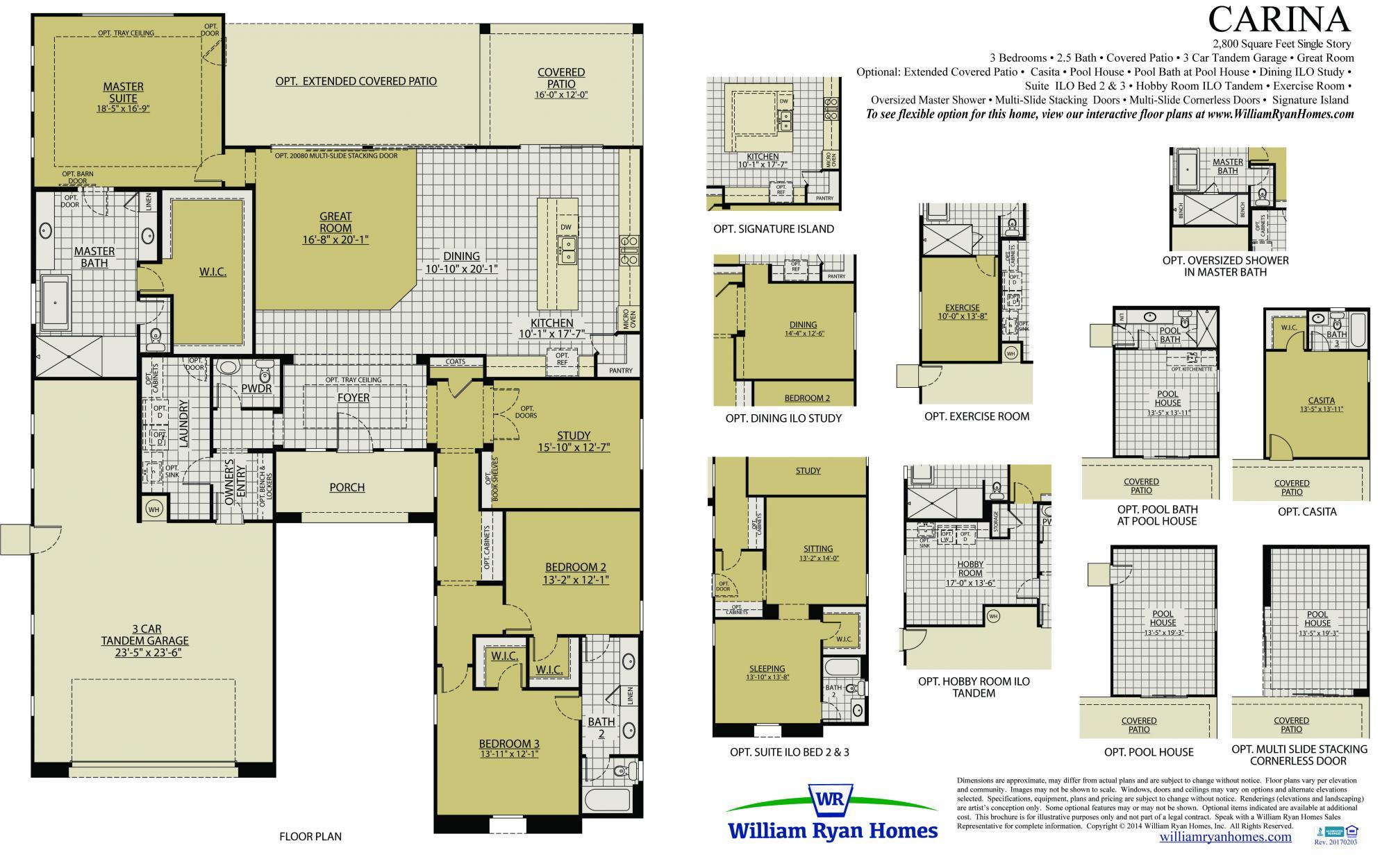 Carina Plan William Ryan Homes John Deutsch Sells Homes In Estrella Mountain Call Me